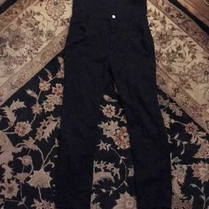 High Waisted Black Skinny Pants